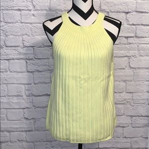 A+ Anthropologie Canary Yellow Sleeveless Sweater